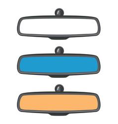 Set car rear view mirrors vector