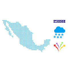 Snowflake mexico map vector