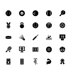 Sports solid icons vector