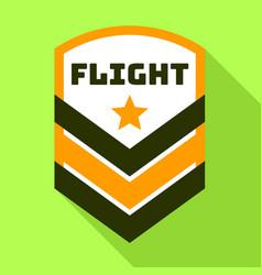 Star flight logo flat style vector