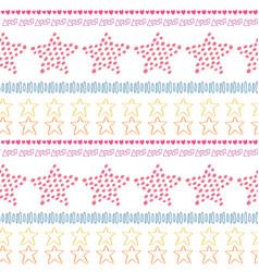 stars ethnic seamless pattern background fashion vector image