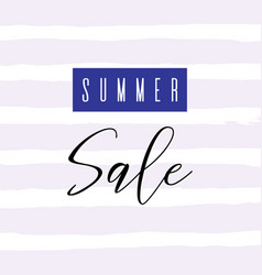 summer sale lettering inscription special offer vector image