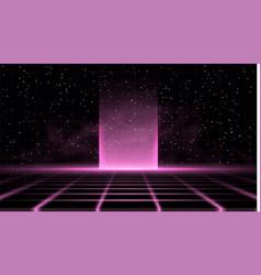 Synthwave vaporwave retrowave pink background vector