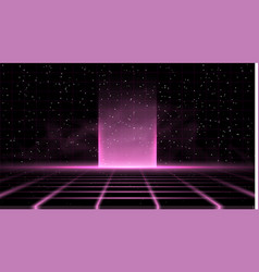 Synthwave vaporwave retrowave pink background with vector