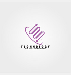technology logo template logo for business vector image