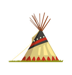 Teepee tent or wigwam native american dwelling vector
