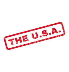 The USA Rubber Stamp vector image