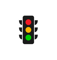 traffic light logo graphic design template vector image