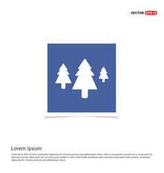 tree icon - blue photo frame vector image
