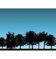 tree landscapes vector image