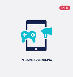 two color in-game advertising icon from general-1 vector image