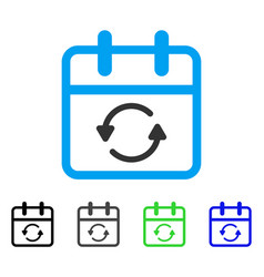 Update day flat icon vector