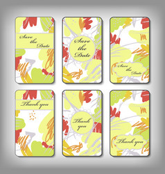 vintage card templates vector image