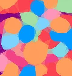 Vivid color polygonal background vector