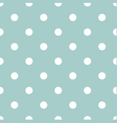 White polka dots on mint green background vector