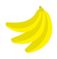 banana icon branch set healthy food lifestyle vector image vector image