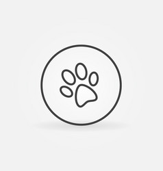 dog paw in circle icon vector image vector image