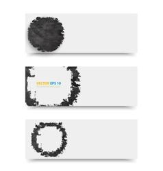 Grunge template header design vector image