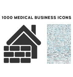 Realty Brick Wall Icon with 1000 Medical Business vector image