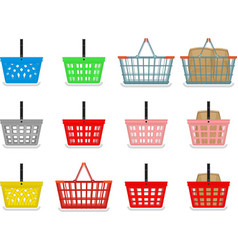 Shopping baskets vector image vector image