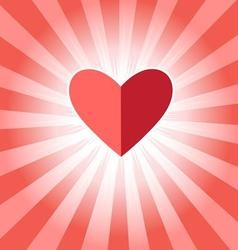 Beautiful with red heart vector image