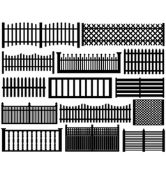 fence set isolated vector image vector image
