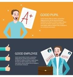 good pupil employee best get A appreciation thumbs vector image