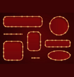 retro light frames vector image vector image