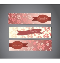 tree vintage banners vector image