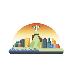 brazil icon in flat style vector image