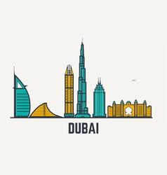Dubai line view vector image vector image