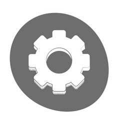 gear engineer work cooperation icon color vector image vector image