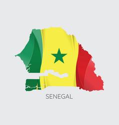 map of senegal vector image vector image