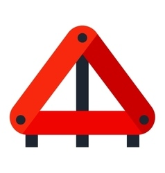 Red warning triangle emergency road sign vector image
