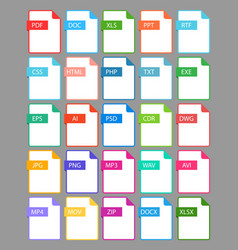 set file format icon vector image
