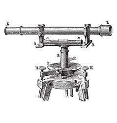 spirit level with telescope vintage vector image