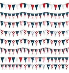 usa party bunting vector image vector image