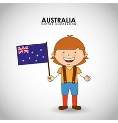 australian kid vector image