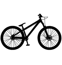 Dirt jump mountain bike vector image vector image