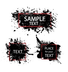 hand painted black watercolor background vector image