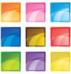 square buttons vector image vector image
