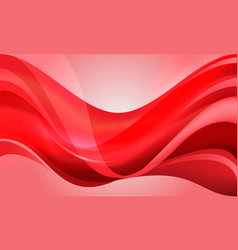 abstract red curve wave design modern luxury vector image