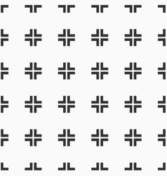 abstract seamless pattern of crosses vector image