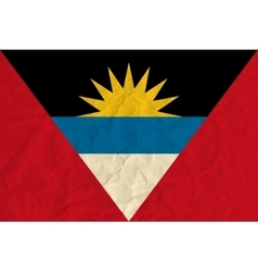 Antigua and Barbuda paper flag vector image