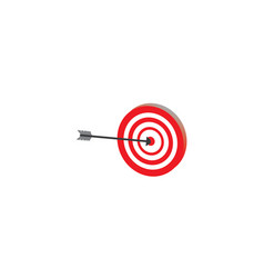 archery arrow in the aim target of a dartboard vector image