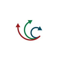 arrows logo direction symbol sign element design vector image