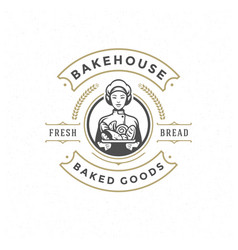 Bakery badge or label retro vector