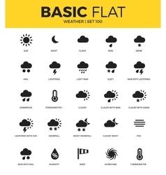 basic set of weather bonus icons vector image