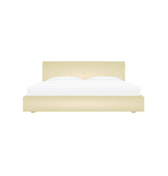 beige double bed vector image