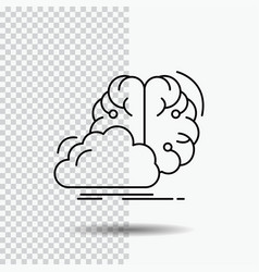 brainstorming creative idea innovation vector image